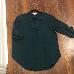 3/4 sleeve emerald blouse